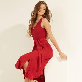 Erynn Pleated Dress (ROARING RED)