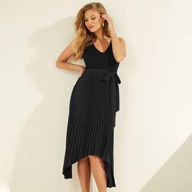Erynn Pleated Dress (JET BLACK)