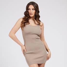 Agatha Square Dress (WARM STONE)