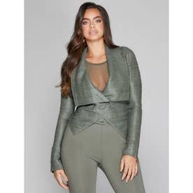 Shayna Drape Leather Jacket (STERLING MOSS)