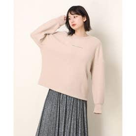 Ladies  L/Slv Sweater Tee Shirt (BEIGE)
