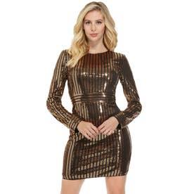 Alexia Sequin Dress (JET BLACK MULTI)