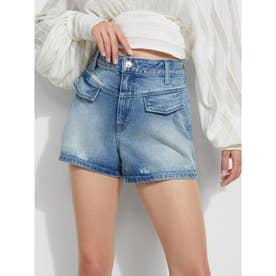 Front Pleat Shorts (TIDAL WAVE WASH)