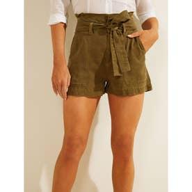 Janna Paperbag Shorts (ARMY SAGE)