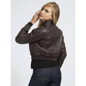 MARCIANO Love Knot Leather Bomber Jacket (DARK DIVA)