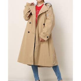 Hooded Trench Coat (BEIGE)