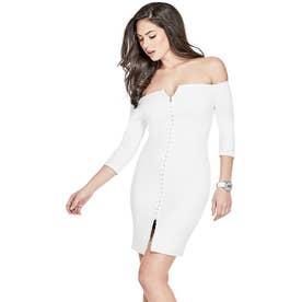 Off Shldr Kelli Dress (BRILLIANT WHITE)