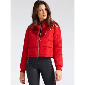 Laurie Laminate Stripe Padded Jacket (RED ATTITUDE)