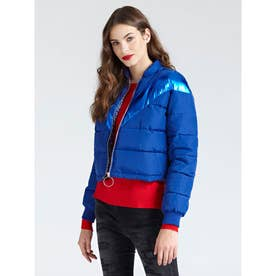 Laurie Laminate Stripe Padded Jacket (ROCK AND BLUE)