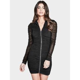 MARCIANO Aria Mesh Dress (JET BLACK)