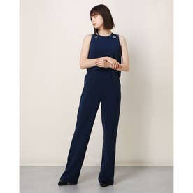MARCIANO Lace-Up Sleeveless Jumpsuit (INK BLUE)