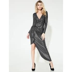 Ls Riviera Maxi Dress (JET BLACK MULTI)