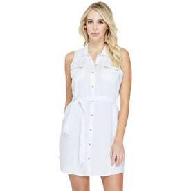 Sadia Linen Dress (PURE WHITE)
