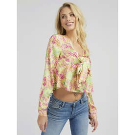 All Over Print Knotted Blouse (P27B)