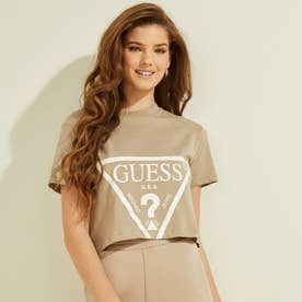 Cropped Logo Tee (TRUE TAUPE)