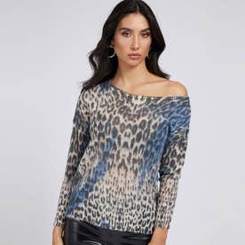 Animalier Print Sweater (P76Y)