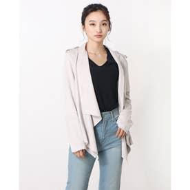 Sofia Faux-Suede Jacket (GREY BOUNDARY)