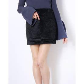 MARCIANO Faustine Faux Pony Skirt (JET BLACK)