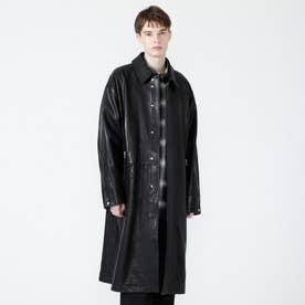 レザーオーバーサイズコート (ブラック)