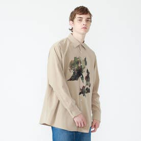 nowartt ビッグフラワーシャツ (ベージュ)