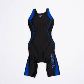 レディース 水泳 フィットネス水着 EVEN LAP KNEESKIN SFW12050 【返品不可商品】 (ブラック)