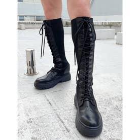 ニットドッキングインソールワークブーツ (ブラック)