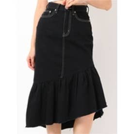 フリルロングスカート (ブラック)