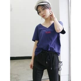 YESDADDYVネックTシャツ (ネイビー)