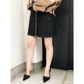 フロントZIP スカート (ブラック)
