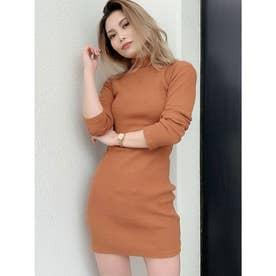 テレコタートルタイトワンピ (オレンジ)