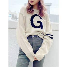 G SLEEVELINE ニット トップス (ベージュ)