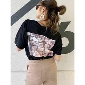 DOWN TOWN BUNNY Tシャツ (ブラック)