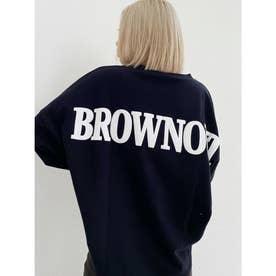 BROWN OUTドルマンスウェットTOPS (ブラック)