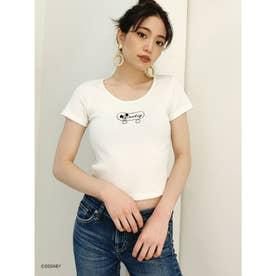 MICKEY MOUSE/SKATEテレコショートTシャツ (オフホワイト)