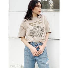 MICKEY&PLUTO/BUDDY BIG Tシャツ (ベージュ)