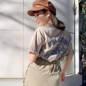 DELIBUNNY ポケットTシャツ (ベージュ)