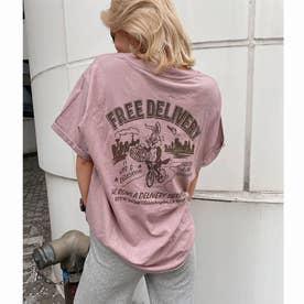 DELIBUNNY ポケットTシャツ (ピンク)