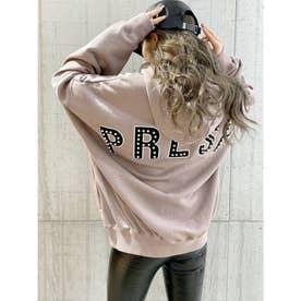 PRESHワッペンスウェットBIG パーカー (ピンク)