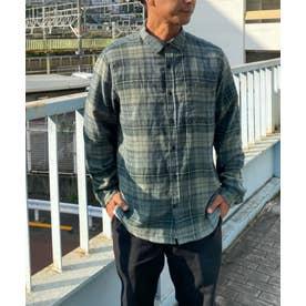 Hurley チェック柄ネルシャツ (グリーン)
