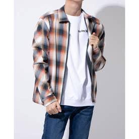 ジップアップシャツジャケット(オレンジ)