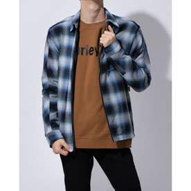 ジップアップシャツジャケット(ブルー)