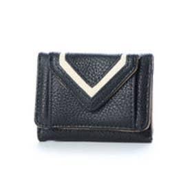 バイカラーフラップミニ財布 (BLACK)