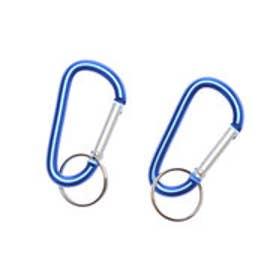 トレッキング カラビナ アクセサリーカラビナ(2個) ブルー 23321