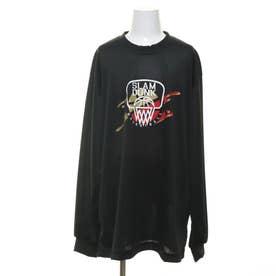 ジュニア バスケットボール 長袖Tシャツ ロンT TLSD024 TLSD024-B (ブラック)