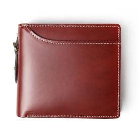 リサイクルレザー二ツ折リ財布 (BRN)