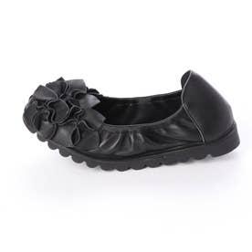 お花のバレエシューズ (ブラック)