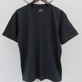 【Hanes/ヘインズ】ビーフィー クルーネック半袖ポケットTシャツ H5190(ブラック【090】)