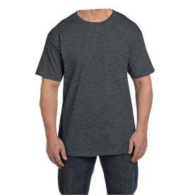 ビーフィー半袖Tシャツポケット付 6.1オンス タグ有 (チャコールヘザー)