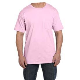ビーフィー半袖Tシャツポケット付 6.1オンス タグ有 (ペールピンク)