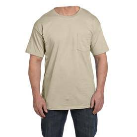 ビーフィー半袖Tシャツポケット付 6.1オンス タグ有 (サンド)